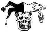 The ApocaDocs Logo: the Deaths-head Jester